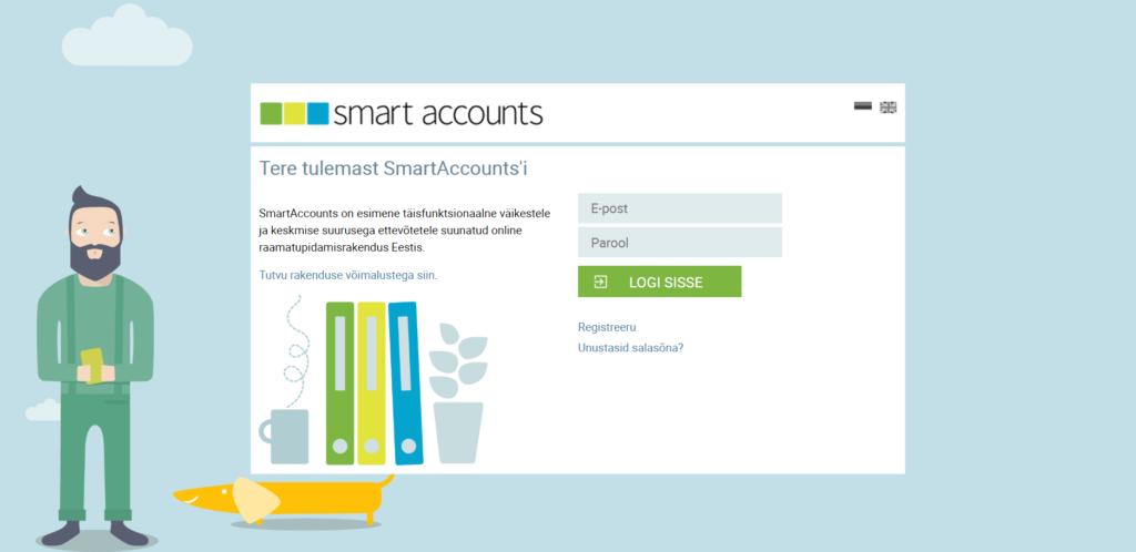 SmartAccounts logi sisse ekraan