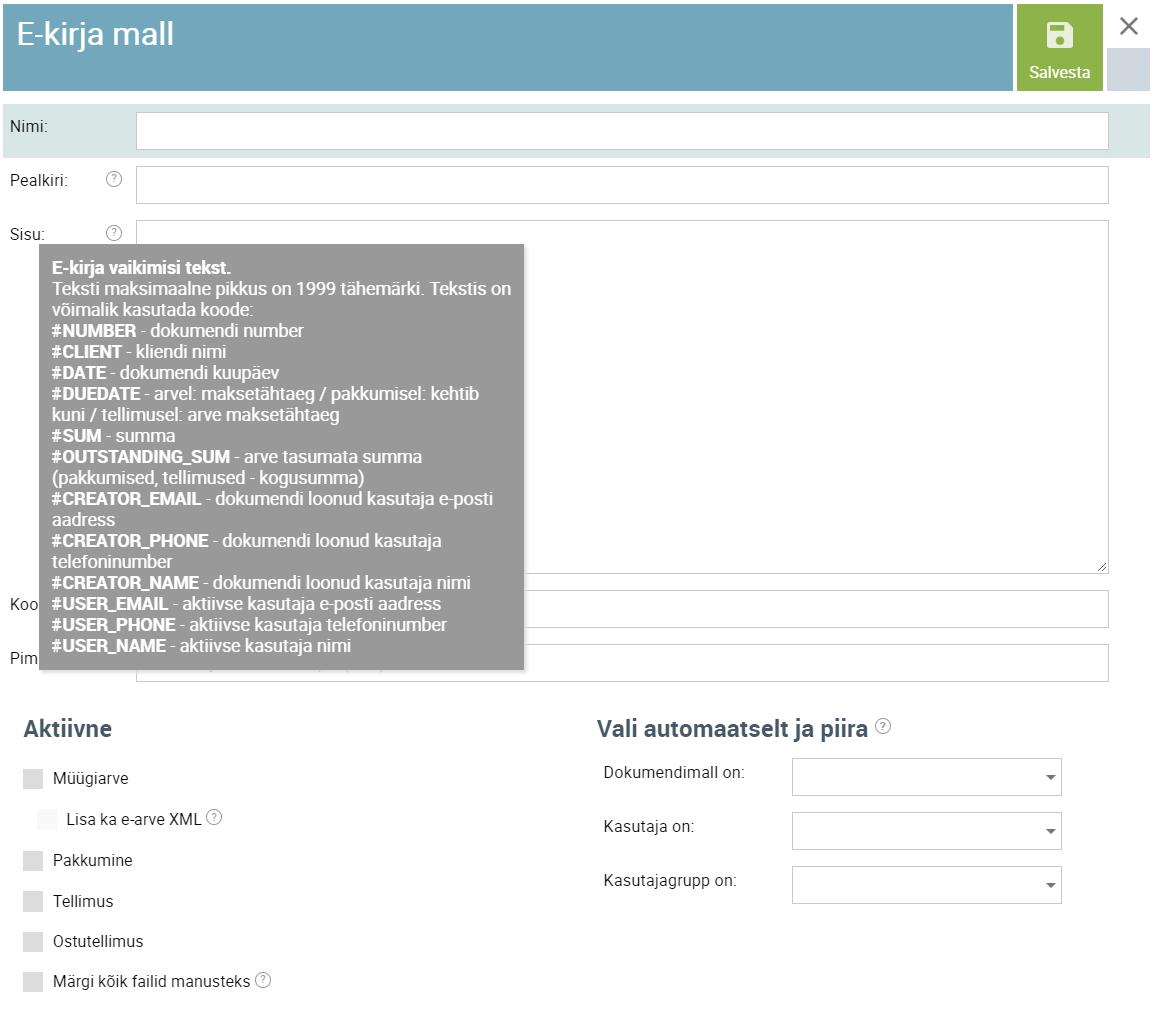 E-kirjad - SmartAccounts