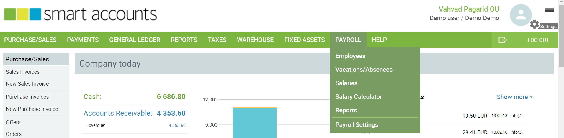 payroll menu